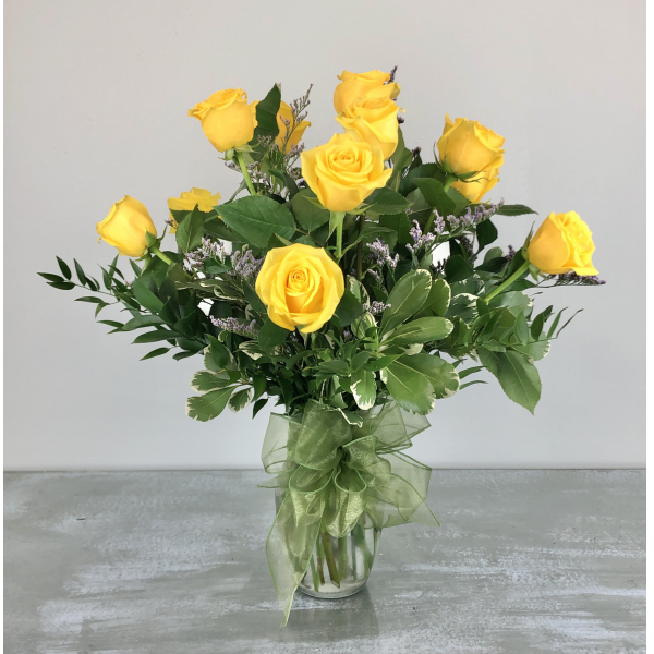 Dozen Premium Yellow Roses