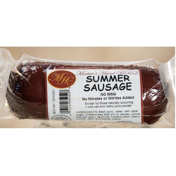 Master's Hand BBQ – Summer Sausage