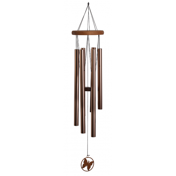 Napco Large Copper Windchime With Butterfly