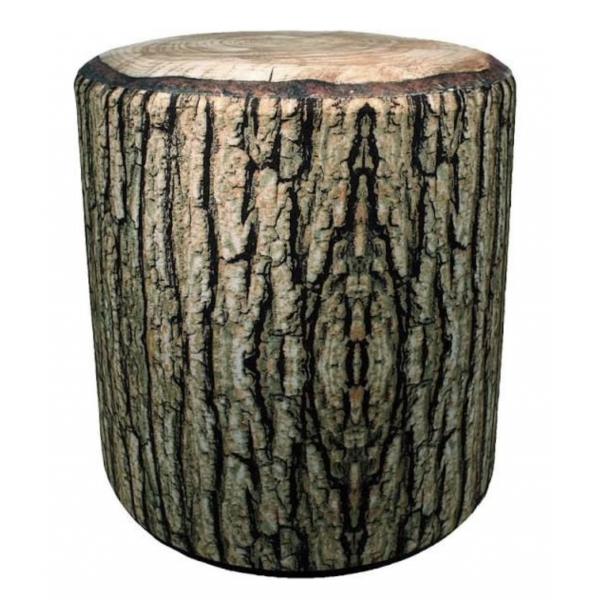 Cabin Fever Cushioned Rustic Log Stool