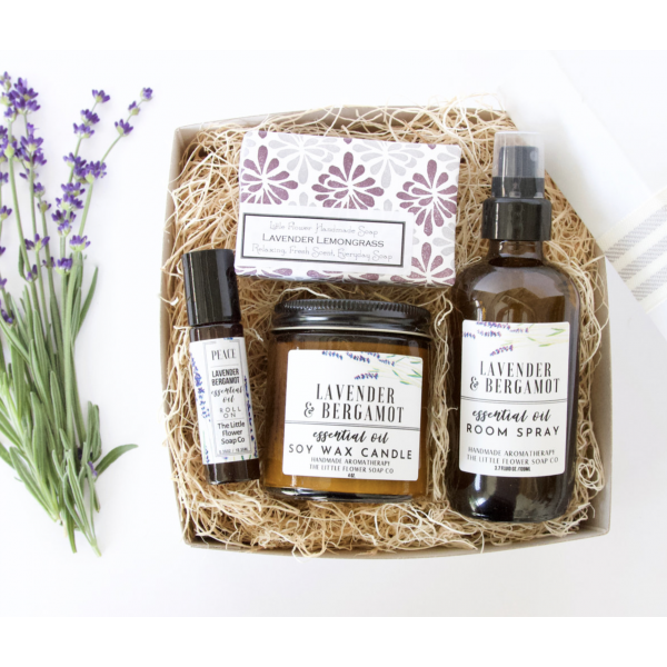 The Little Flower Soap Company Lavender Aromatherapy Home Box