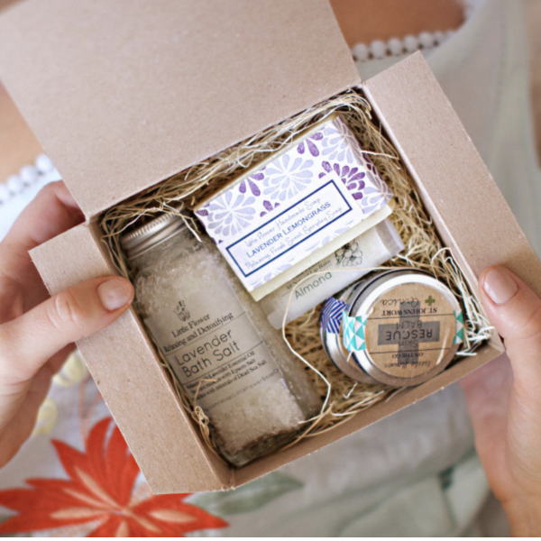 The Little Flower Soap Company Personalized Spa Gift Box