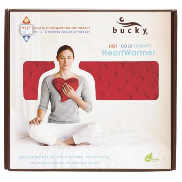 Bucky Large Heart Warmer Pillow Red