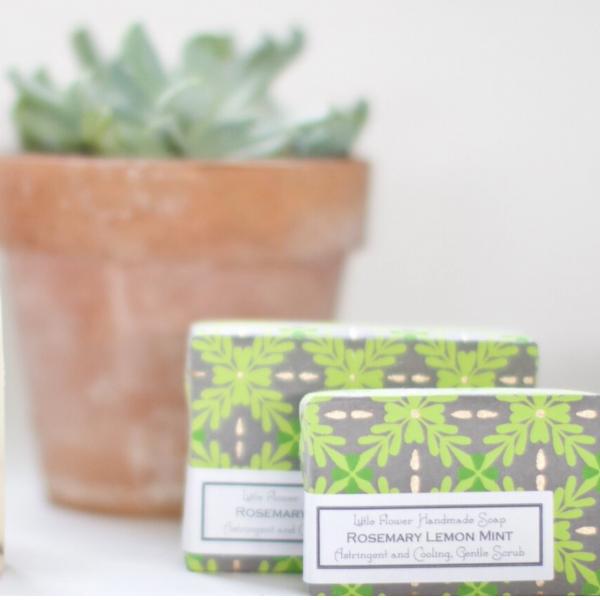 Little Flower Shop Rosemary Lemon Mint Soap