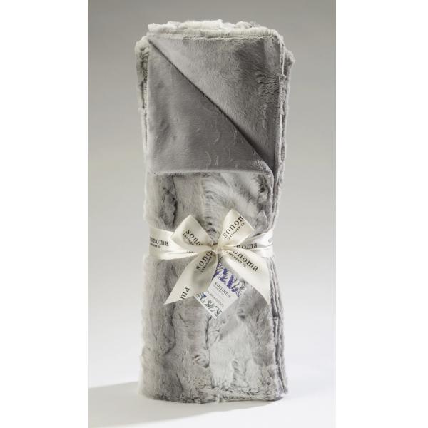 Sonoma Lavender Cuddle Throw - Angora Platinum