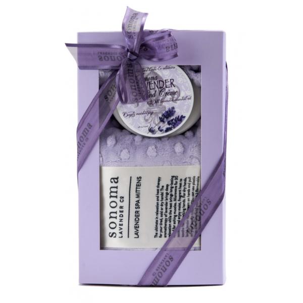 Sonoma Lavender Spa/Mitten Hand Creme Gift Set