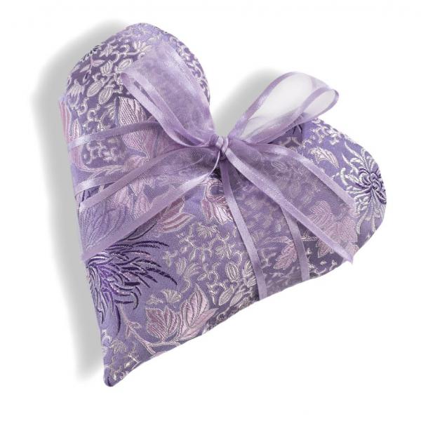 Sonoma Lavender Heart Sachet in Chrysanthemum Brocade Fabric