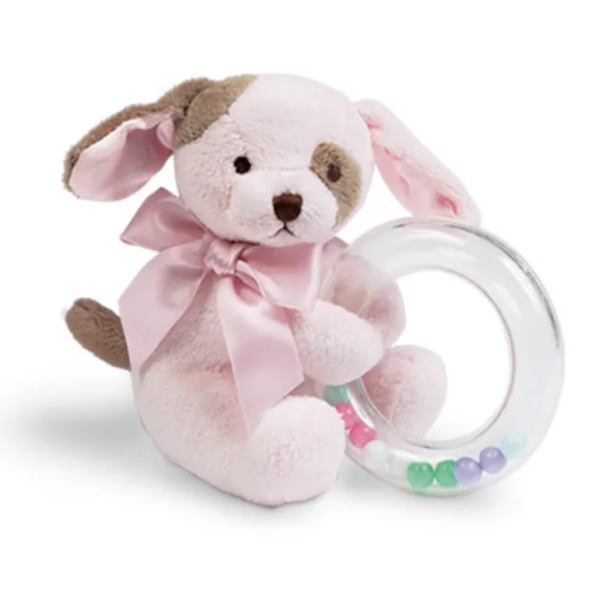 The Bearington Collection - Wiggles Pink Puppy Shaker Rattle