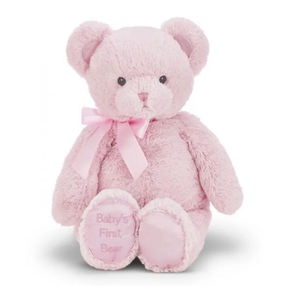 Bearington Collection Baby's 1st Bear Pink Jumbo