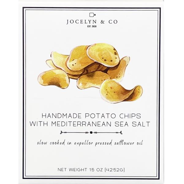 Jocelyn & Co Handmade Potato Chips with Mediterranean Sea Salt