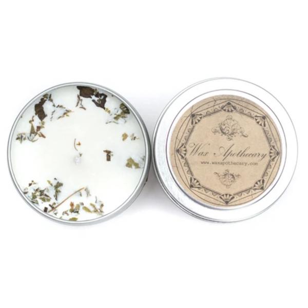 Wax Apothecary Patchouli 4oz. Botanical Candle Travel Tin