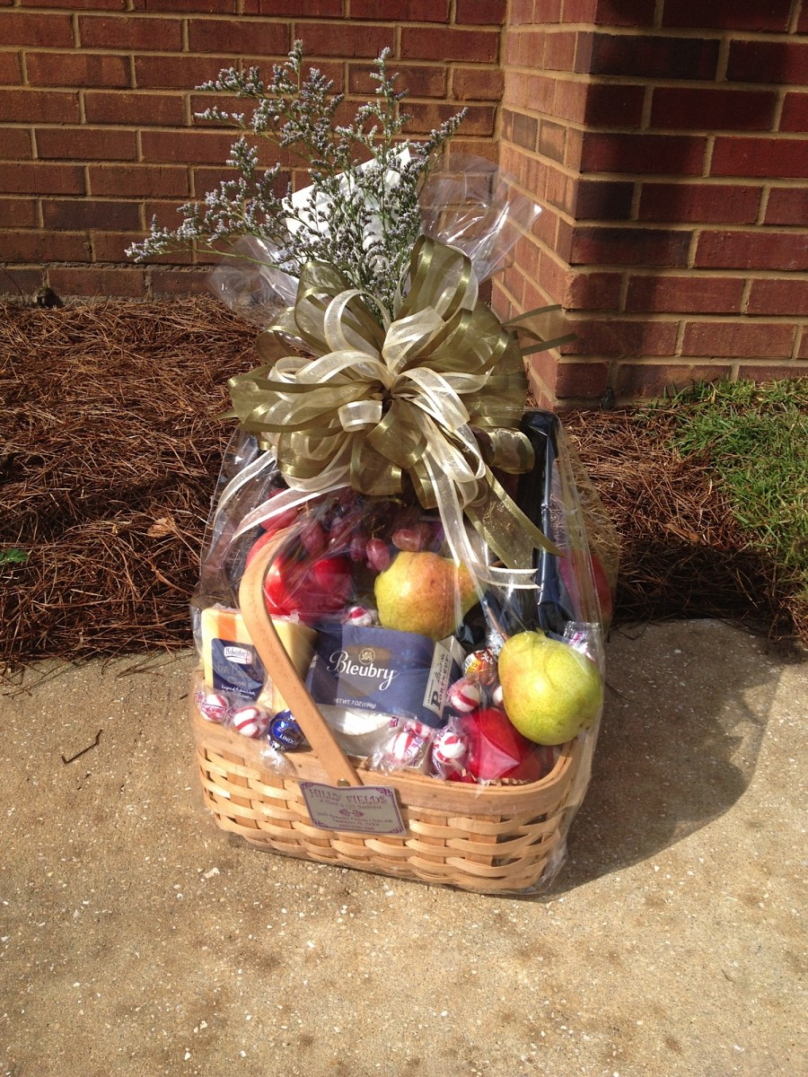 Custom Fruit and Cheese Basket