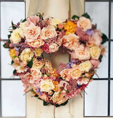 Soft Heart Wreath