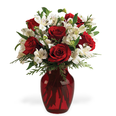 Holiday Colors Vase Bouquet