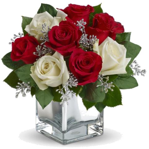 Elegant Cube of Roses