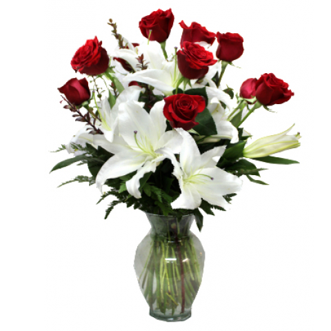 Valentine Roses and Lilies