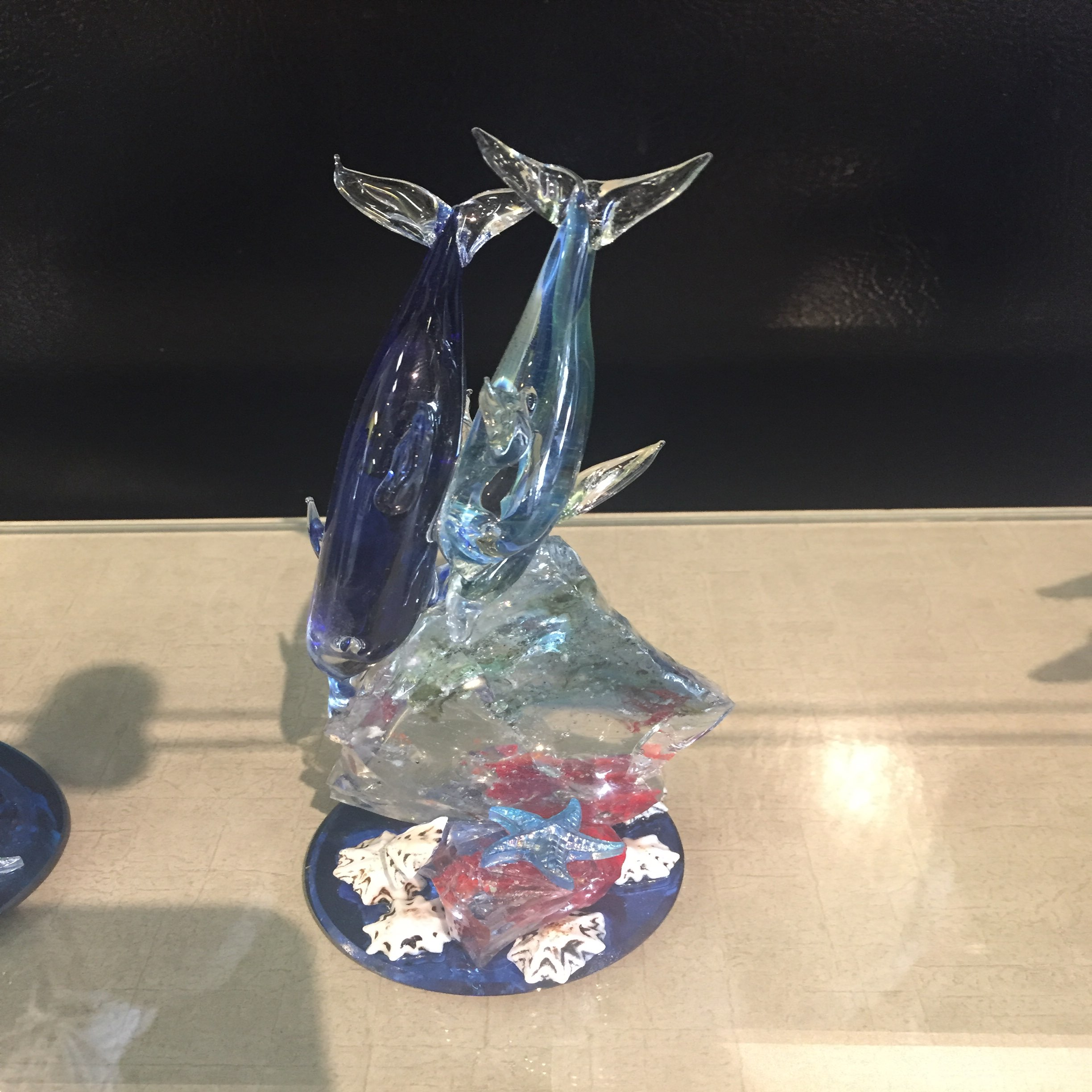 Glass Dolphin Sculpture