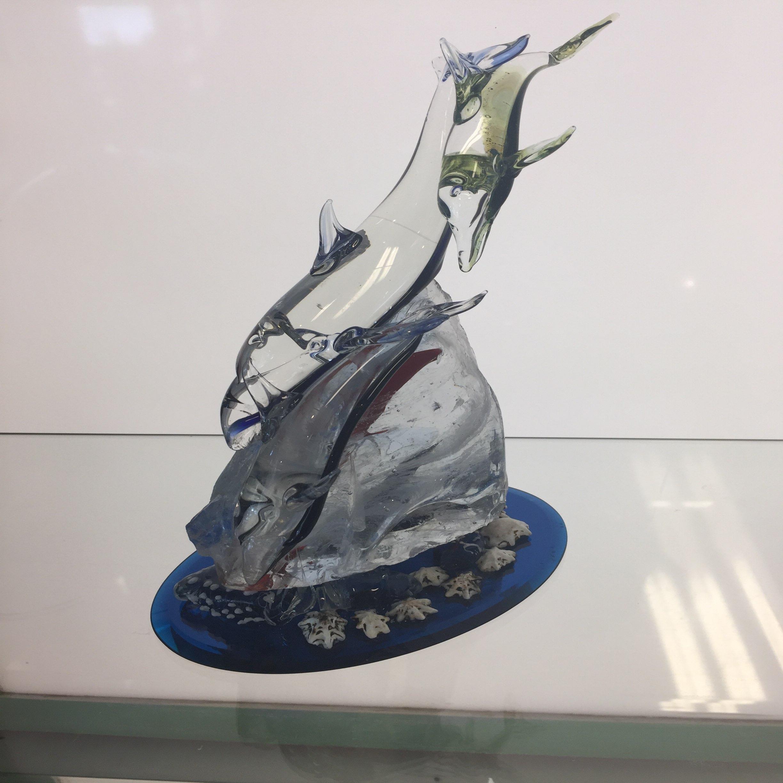Glass Dolphin Sculpture