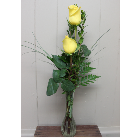 Double Rose Budvase