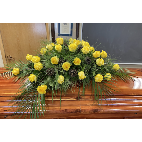 Great Casket Spray with roses