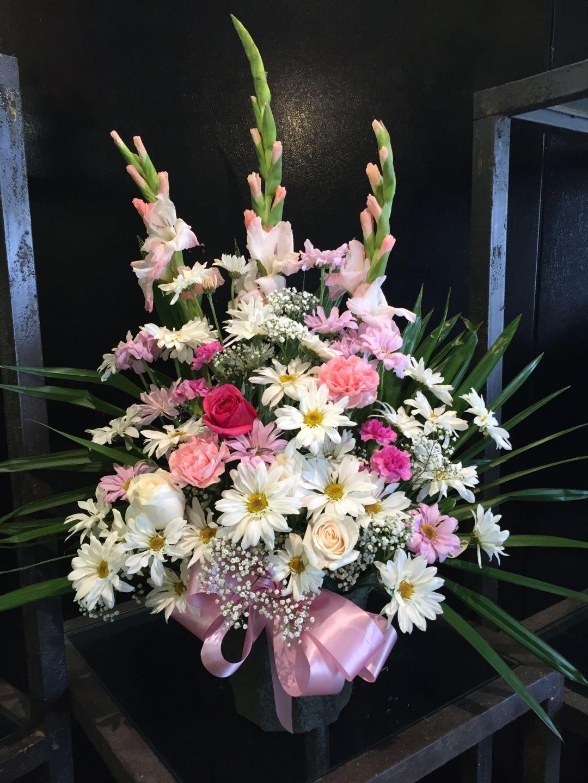 Feminine Pastel Funeral Arrangement
