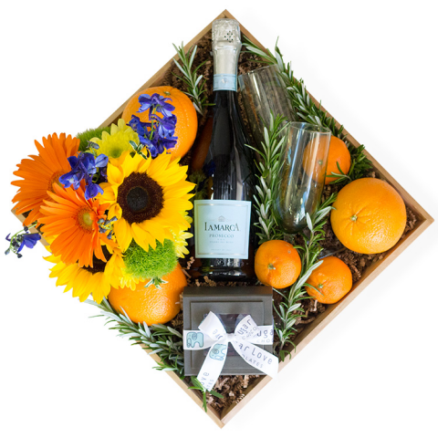 Sparks Florist® - Reno Mimosa Gift Crate