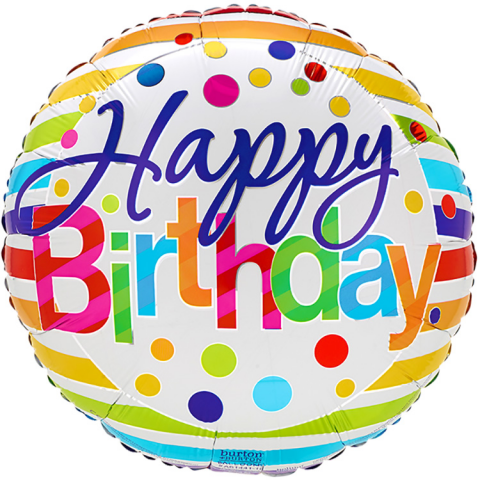 Reno & Sparks Flower Delivery | Sparks Florist® - Reno Happy Birthday Mylar Balloon