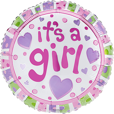 Baby Girl Mylar Balloon