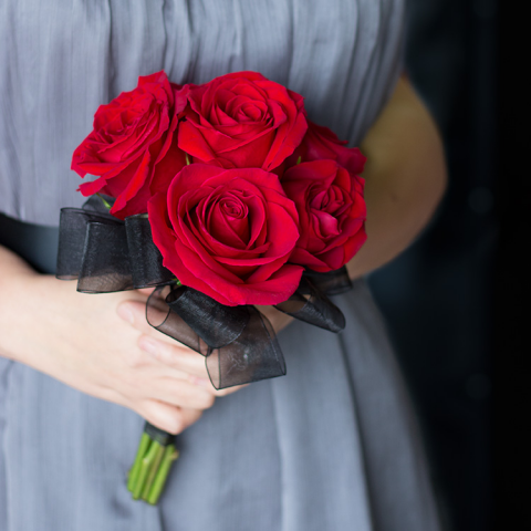 Red Rose Attendant Bouquet