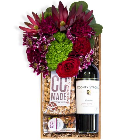 Reno & Sparks Flower Delivery | Sparks Florist® - Reno Spirited Gathering Gift Crate