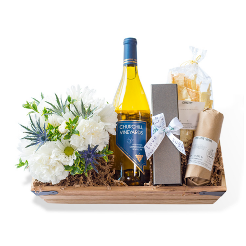 Sparks Florist® - Reno Battle Born Gift Crate w/ Wine