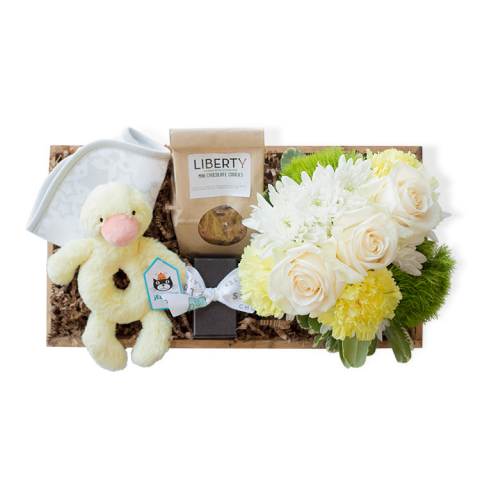 Reno & Sparks Flower Delivery | Sparks Florist® - Reno Bundle of Joy Gift Crate - Neutral