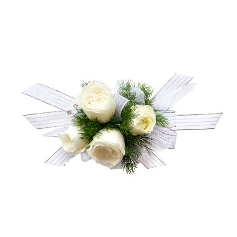 Rose Pearl Wrist Corsage<br><i>Customize bracelet, ribbon & rose color</i></ br>
