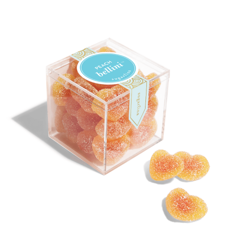 Peach Bellini Gummy Hearts