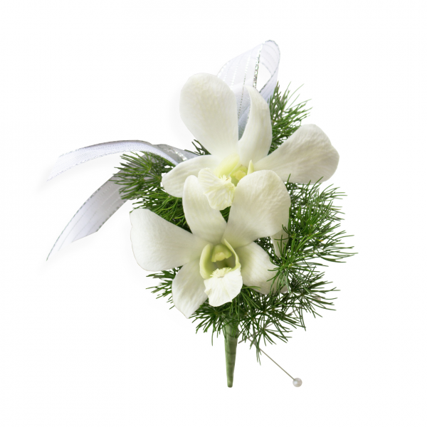 Orchid Boutonniere<br ><i>Customize ribbon & orchid color</i></br >
