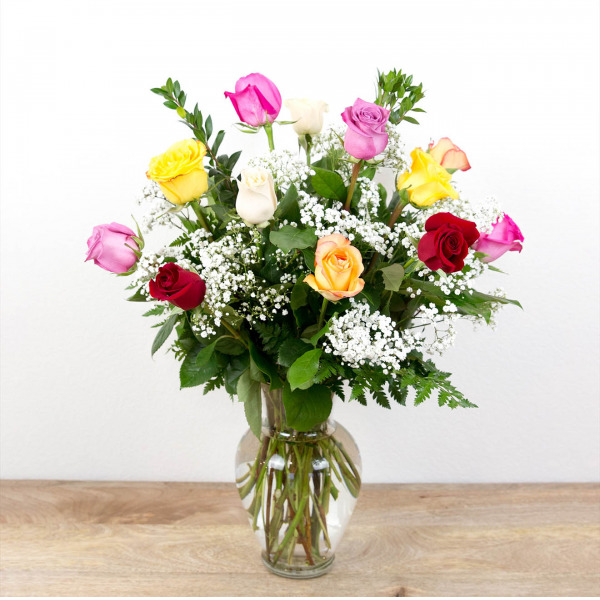 Reno & Sparks Flower Delivery | Sparks Florist® - Sparks 1 Dozen Long Stem Color Roses