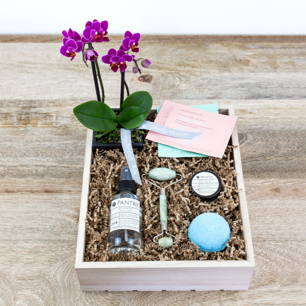 Reno & Sparks Flower Delivery | Sparks Florist® - Reno Relax & Renew Gift Crate - Small