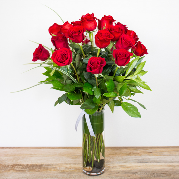 Long Stem Red Roses<br><i>2 dozen modern roses</i>