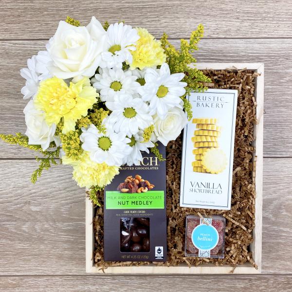 Reno & Sparks Flower Delivery | Sparks Florist® - Sparks Sending Sunshine Gift Crate