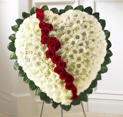 Reno & Sparks Flower Delivery | Sparks Florist® - Sparks Broken Heart Easel Arrangement