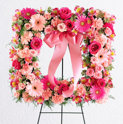 Reno & Sparks Flower Delivery | Sparks Florist® - Sparks Peaceful Thoughts Standing Wreath