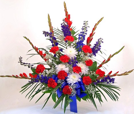Reno & Sparks Flower Delivery | Sparks Florist® - Sparks The Patriot Floral Arrangement