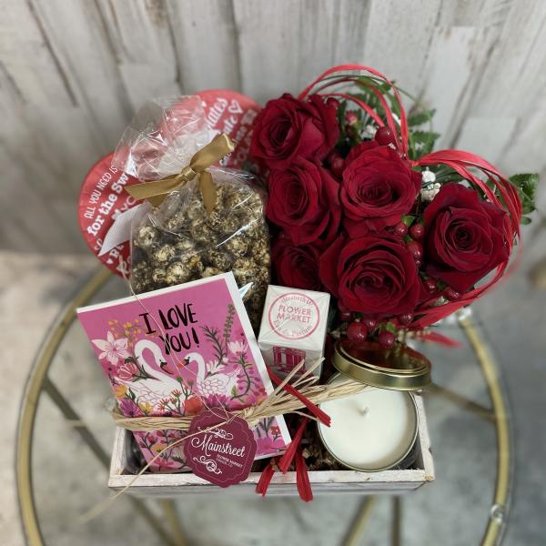 Valentine's Giftbox + Blooms