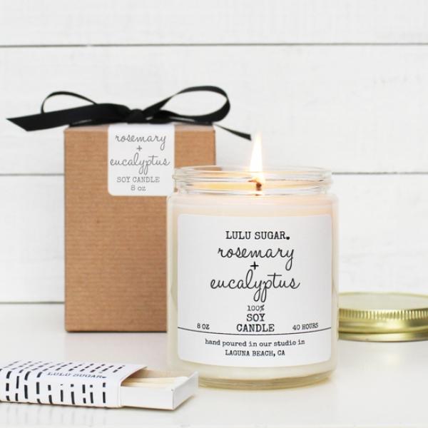 Rosemary Eucalyptus Soy Candle