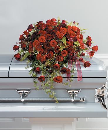 Red Rose Casket Cover