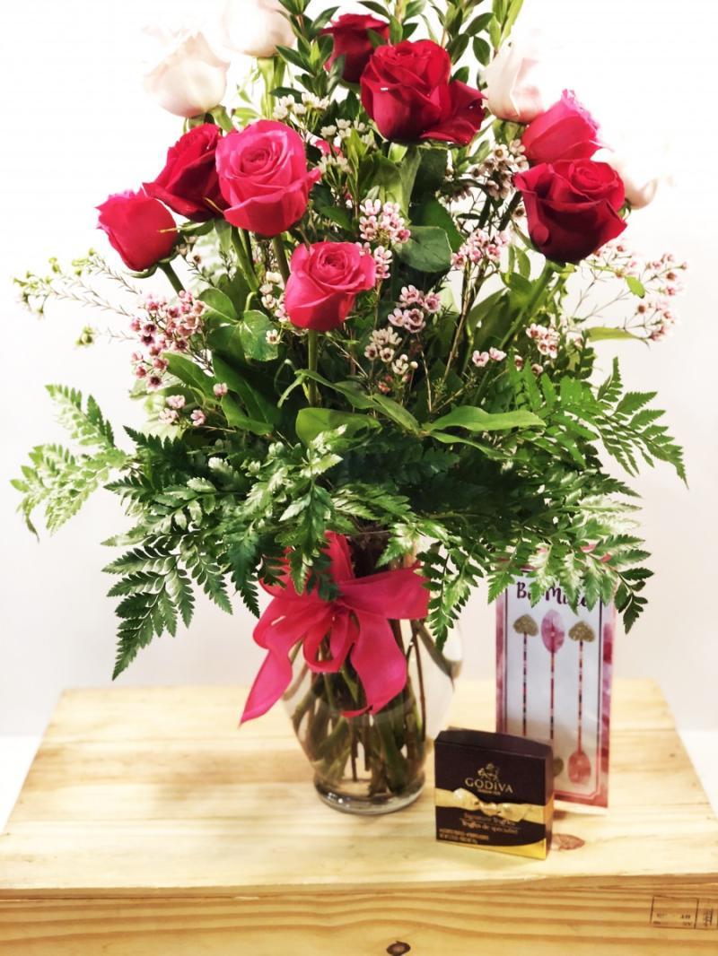 Valentine Dozen - Mixed with Chocolates