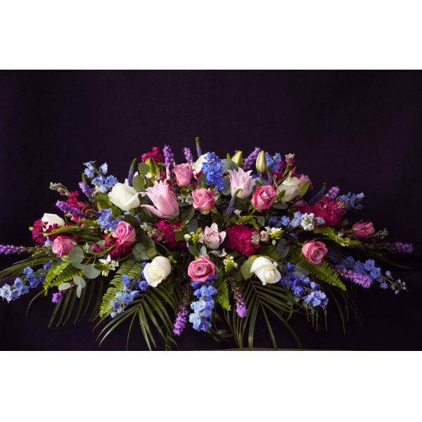 Colorful Classic Casket Spray