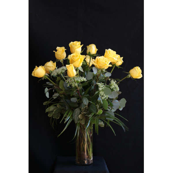 Long Stemmed Roses in a Vase