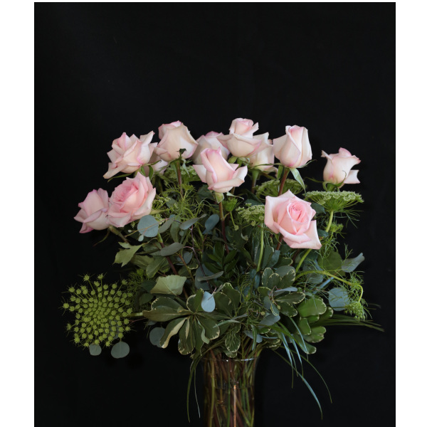 Long Stemmed Roses in a Vase