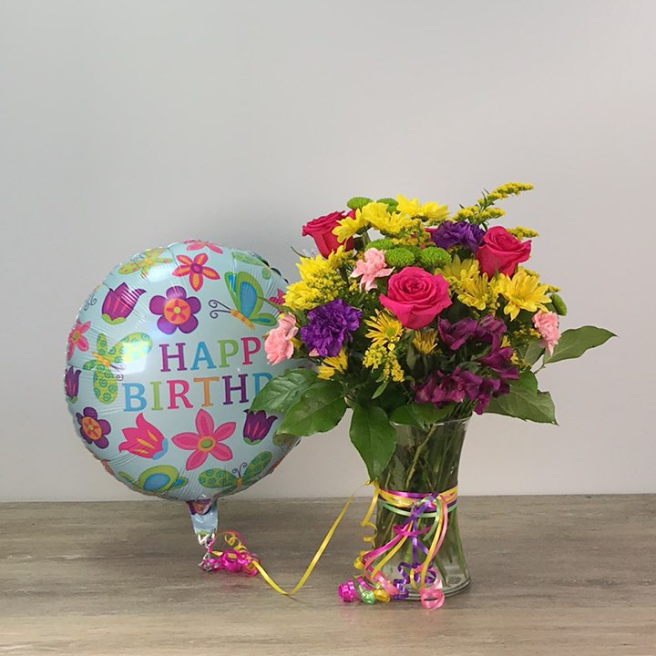 It's Your Day Bouquet with Mylar
